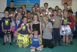 World Champion & Coach Jade Munro with some of the K.9 Fight Team that took part