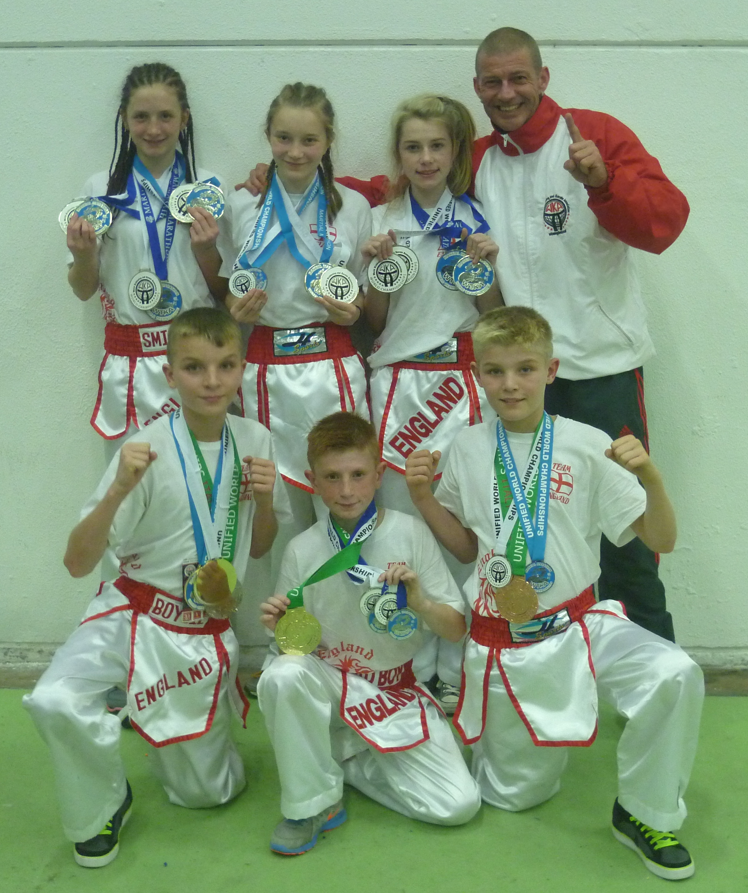 K.9's England reps with their medal haul