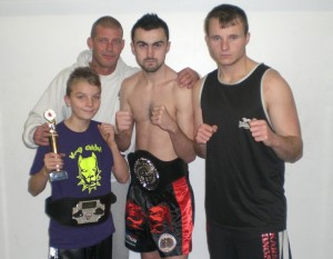 New Champions Danny Mitchell & Nicky Mchugh with Aaron Monson and coach Dave Munro