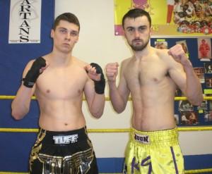 L-R WinnersTeam Noguiera's Modestas Andrijakaus and K.9 Fight team's Danny Mitchell