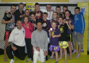 All Conquering K.9 Fight Team with their coaches