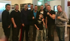 A few K9 students and coaches at Dan's post training leaving do