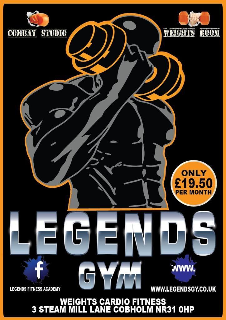 Legends Gym pricing