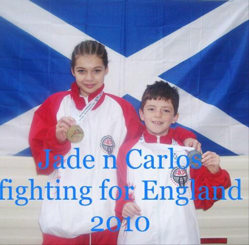 Jade and Carlos fighting for England